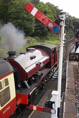 Waiting for Depature Time (McTumshie) Tags: england train unitedkingdom lakedistrict railway victor locomotive steamengine steamrailway haverthwaite steamlocomotive bagnall 2996 lakesidehaverthwaiterailway