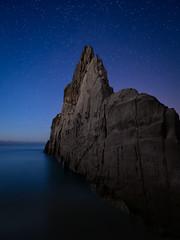 Mexota`s Nights (bertigarcas) Tags: espaa seascape beach marina stars landscape spain nightscape asturias playa paisaje olympus estrellas nocturna zuiko omd 918 tapiadecasariego em5 mexota