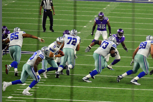 Romo with the hand-off