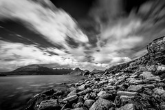 Elgol - Lee Big Stopper - Mono (capturedcanvas.co.uk) Tags: longexposure chris blackandwhite beach clouds canon mono rocks cloudy captured smith canvas usm manfrotto 6d elgol photosoncanvas capturedcanvas