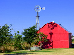 Windmill,Shadow,Red Barn HWW (The Old Texan) Tags: shadow red windmill barn