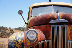 Not The Prettiest Of Faces (nedlugr) Tags: california ca usa rural rust grill headlight studebaker windshield ruraldecay lockwood ruralwest studebakertruck