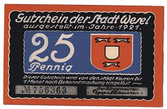 . (Kaopai) Tags: money note geld wesel notgeld papiergeld geldnote pfennig1921