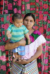 Mother and Baby Chiapas Mexico (Ilhuicamina) Tags: people woman baby mexicana portraits children mujer gente maya embroidery mexican nino chiapas madre