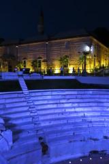 Plovdiv - Roman stadium and Dzhumaya mosque (lyura183) Tags: night bulgaria plovdiv ancienttimes българия пловдив
