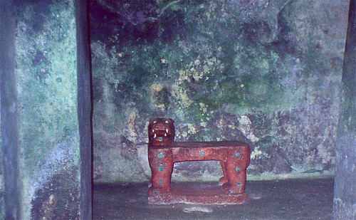 The Jaguar Throne inlaid with jade ...(no longer on display since 2006)