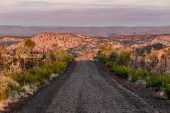 Over the Edge (newretreads42) Tags: road trees sunset sign speed warning australia queensland photowalk scrub rubble oblivion mountisa telstrahill wwpw2015