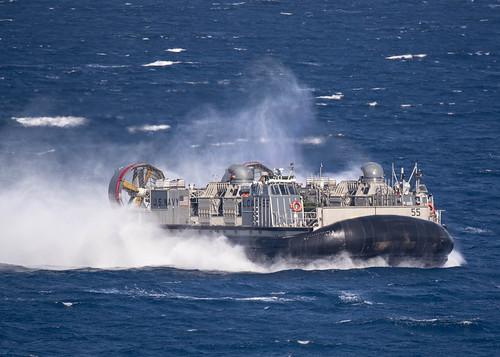 An LCAC returns to USS Kearsarge.