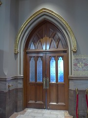 St. John the Baptist Cathedral, Savannah; Side Entry   --   L1000100 (mshnaya ) Tags: door windows church st architecture john george flickr cathedral pipe kirche ceiling organ nave vault savannah pew stainglass eglise schone  leicac