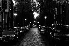 Groningen Street (Max_Pop) Tags: white black night nikon dusk streetlights groningen 1870mm d7000