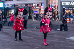 Multiple Minnies (H. Evan Miller) Tags: travel newyork mouse costume manhattan sony disney timessquare alpha nex a6000 hevanmiller ilce6000