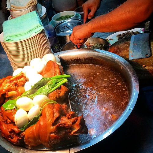 My favorite street food in Chiang Mai! Delicious pork for $1.50!
