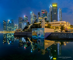 Merlion Holiday (Jansen Chua) Tags: panorama singapore southeastasia cityscape skyscrapers jubileebridge centralbusinessdistrict fullertonhotel tallbuildings singaporetourismboard jansenchuaphotography