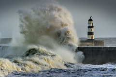 Stormy seas, Seaham, County Durham (DM Allan) Tags: lighthouse waves harbour northsea storms seaham countydurham durhamheritagecoast