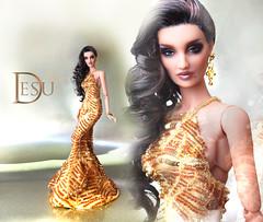 Desu pure Gold! (kingdomdoll) Tags: angel gold cinnamon angels regni resinfashiondoll kingdomdoll