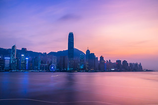 Blue hour at Victoria harbor