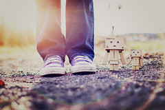 Happy Feet Friday :) (Sandra H-K) Tags: sun feet sunshine outside dof bokeh depthoffield converse lensflare ontheground sunflare danbo toyphotography 35mm14 danboard feetfriday canon70d