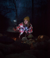 moonlight stew. (gianteyephotography) Tags: camping red wild night dinner truck river fire sticks cabin woods kentucky smoke cook dental gorge knives wilderness care dreads camper