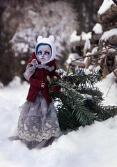 on Christmas eve (tehhishek) Tags: ooak custom mattel model new year tree spruce pine bear snow holiday christmas merry ghoulia monster high puppet photos eve