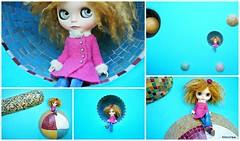 Ceramic planet wall (mademoiselleblythe) Tags: blythe doll zaloa custom reroot stellina