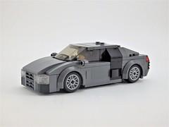 Audi R8 V10 Plus (Redesigned) (wooootles) Tags: lego moc legomoc audi r8 v10 v10plus sportscar midengine awd 6wide speedchampions
