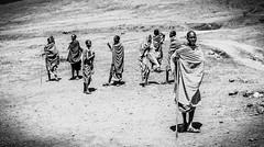 Maasai people (SebastianJensen) Tags: travel tanzania masai africa bw exploration adventure nature safari ngorongoro national park