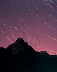 North Cascade Night (voetshy) Tags: film slide expired 4x5 toyo 45a schneider fuji kreuznach 150mm 56 symmar convertible north cascades national park np mountain star trails night large format washington