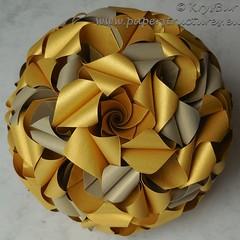 The Past (K16050) (Origami Spirals) Tags: curler paper fold twirl origami burczyk folding art krysbur
