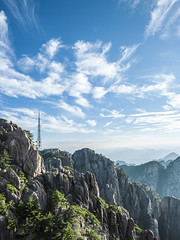 Huangshan (0verexposed) Tags: huangshan contax 645 35mm f35 f11 china anhui clouds mountain antenna bluesky zeiss summer morning sunrise