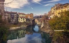 Ivrea, Ponte Vecchio (Fil.ippo) Tags: pontevecchio old bridge ivrea piedmont piemonte italy dorabaltea fiume cityscape filippo filippobianchi d610 hdr