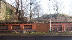 Former street entrance to Liversedge Spen station (Spen Valley Ringway) (dave_attrill) Tags: lnwr london north western railway disused trackbed station site wall street entrance bricked up liversedge spen valley ringway listing lane bridge heckmondwike footpath west riding of yorkshire dewsbury mirfield leeds new line bridges cutting goods closed passengers 1953 december 2016