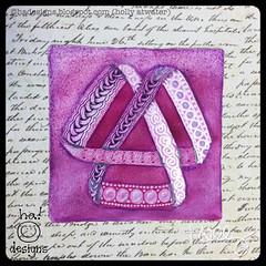 "Zentangle® Inspired Art : Weekly Challenge 300 Moebius Awareness : ""Artoo"" (ha! designs) Tags: 2017 hadesignszentangle hadesigns tangle illustration moebius zentangle zentangleinspiredart purple divachallenge divasweeklychallenge tile"