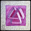 "Zentangle® Inspired Art : Weekly Challenge 300 Moebius Awareness : ""Artoo"" (ha! designs) Tags: 2017 hadesignszentangle hadesigns tangle illustration moebius zentangle zentangleinspiredart purple divachallenge divasweeklychallenge tile"