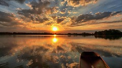 Zapad  slunce nad Starohaklovským rybnikem
