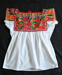 Chatino Embroidered Blouse Oaxaca (Teyacapan) Tags: flowers bordados flores blusas blouses chatino yaitepec juquila oaxacan crafts textiles ropa clothing embroidered