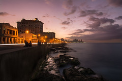 Malecon evenings. (Matthie Holder) Tags: nikon d7100 travel cuba kuba malecon long exposure sea street sky clouds explore sunset night evening wideangle tokina ngc