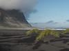 "Beach at Stokksnes (Say ""Wasabi"") Tags: ocean volcanicactivity micro43 omdem5ii mzuiko1240 olympus vestrahorn atlantic landscape beach stokksnes lava blacksand blackbeach islandia iceland clouds cloudy vesturhorn"