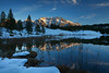 Mountain Lake (wende60) Tags: mountains lake alps sunset glow winter snow cold blue outdoor nature dusk reflection