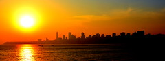 Mumbai Skyline - II (Perceptive Photography) Tags: mumbai india perceptivephotography sunset skyline colorful sea buildings water city travel silhouette flickrtravelaward