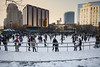 Winter in Grand Rapids (DJ Wolfman) Tags: grandrapids winterinmichigan winter skate skaters city cityscapes skyline buildings color canon 1dmarkiii 1635mmf28l