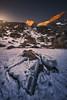 Icebreaker (Manuel.Martin_72) Tags: graubünden prättigau swissalps switzerland drama mountainpeaks mountainslope mountains rocks stones ice snow alpenglow sunrise morning bluesky glow ch