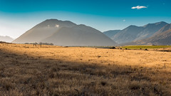 Hazy light (stefannik) Tags: yellow light awesome beautiful landscape planes mount mountain autumn grass sunset sun haze atmosphere mood travel adventure nature naturaleza sky