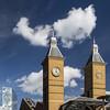 UK - London - Liverpool St Station_sq_DSC2886 (Darrell Godliman) Tags: uklondonliverpoolststationsqdsc2886 liverpoolstreetstation liverpoolstreet liverpoolst station london towers landmark trainstation clocktower clouds cloud sq bsquare squares squareformat
