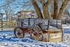 Old Wagon (HarryMiller002) Tags: snow wagon winter missoula fortmissoula montana outdoors morning