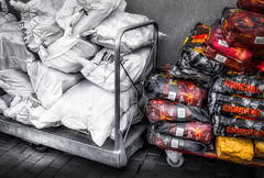 Charcoal And Wood... (Daniela 59) Tags: challenge transport trolley wood charcoal bags sliderssunday hss danielaruppel