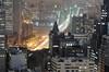 brooklyn bridge from tribeca at night, nyc (itscashtro) Tags: longexposure aerial above rooftop roof skyline cityscape night brooklynbridge brooklyn lowermanhattan tribeca manhattan newyorkcity nyc nikkor70300mm colorefex nikoncapturenx nikond90