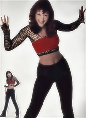 Ravestyle (Fatal Nitro) Tags: jasminwagner blümchen 90er 90s 1998 raver girlie girlpower techno style outfit netzstrumpfhose poster wallpaper remake bauchfrei sexy