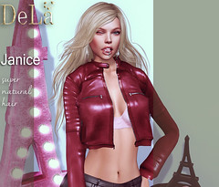 """=DeLa*= new hair """"Janice"""" (=DeLa*=) Tags: dela hair fitted rigged mesh materials secondlife secondlifefashion sl slhair style shiny shabby new"""
