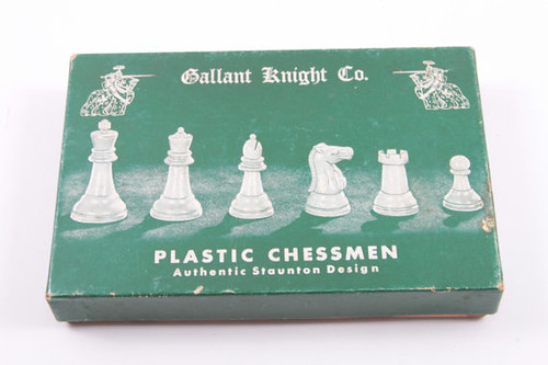 Vintage Box of Plastic Chess Pieces Parts Crafts ~ The Pink Room ~ 161104 by ThePinkRoom