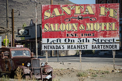 nevada's meanest (what's_the_frequency) Tags: goldfield nevada esmeraldacounty greatbasin highdesert nevadausroute95 95 us95 route95 yesteryear old summer latesummer september rural country outdoors west ghosttown nikon d5100 18200 sigma18200